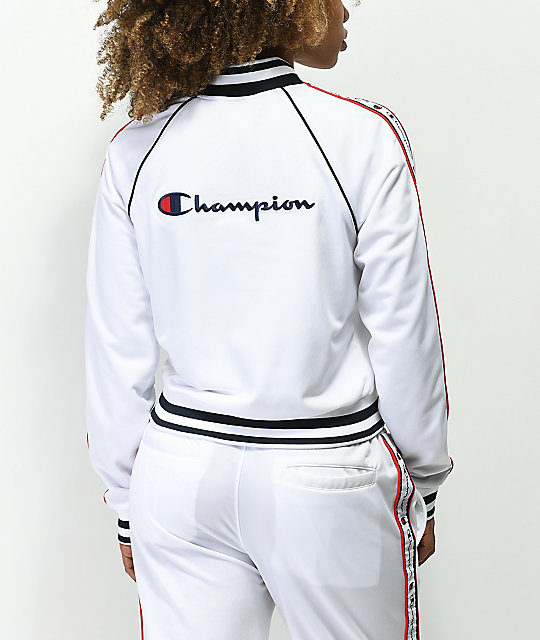 Champion White Track Jacket