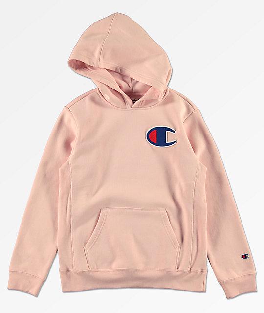 4e2becc7dd6 Champion sudadera con capucha rosa para niños ...