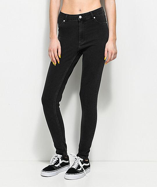 Cheap Monday High Spray Grey Skinny Jeans ...