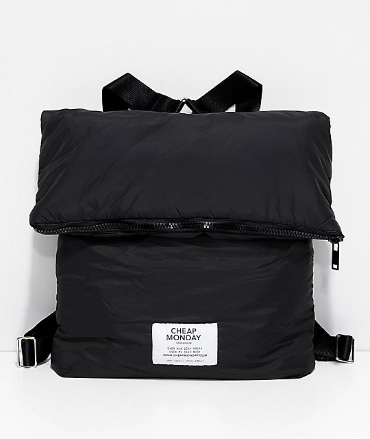 Cheap Monday Zip Puffer mochila negra