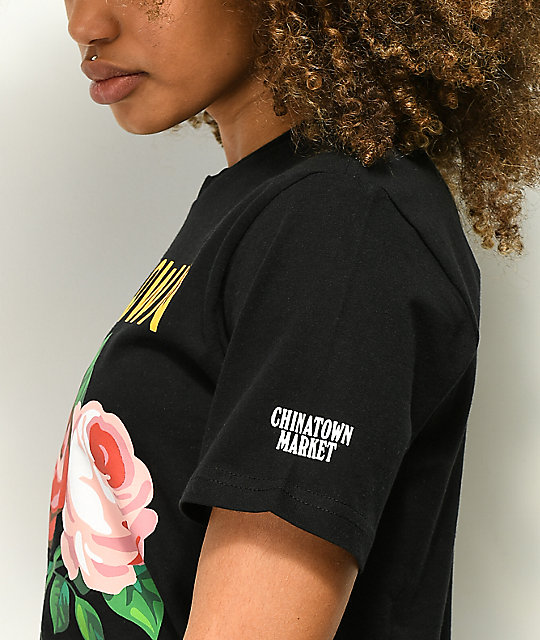 Chinatown Market Flower Shop camiseta negra