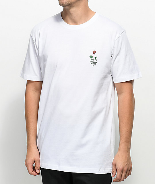 Chinatown Market Rose Chain camiseta blanca