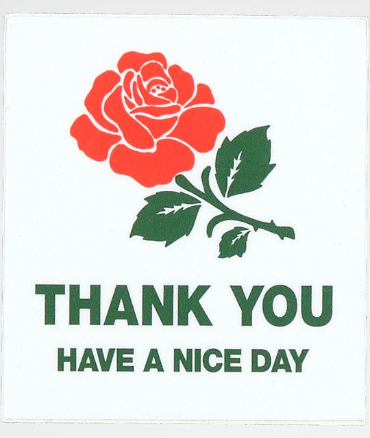Chinatown Market Thank You Rose Sticker