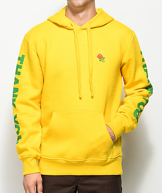 Chinatown Market Thank You Rose Yellow Pullover Hoodie