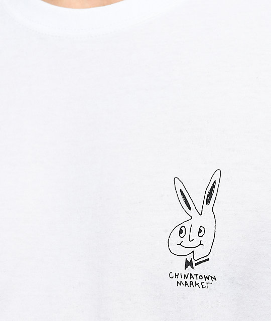 Chinatown Market The Real Bunny camiseta blanca