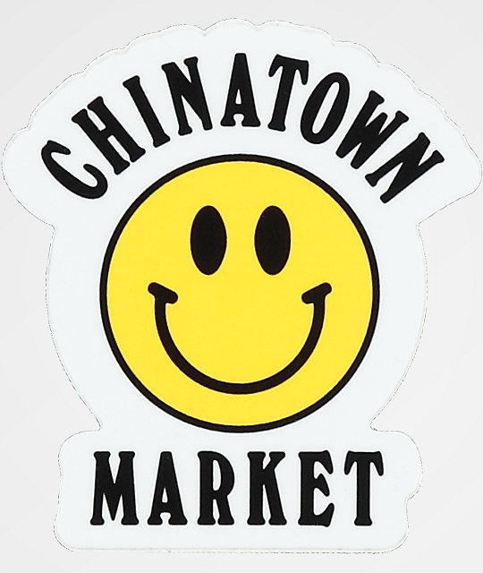 Chinatown Market Yellow Smile Face Sticker