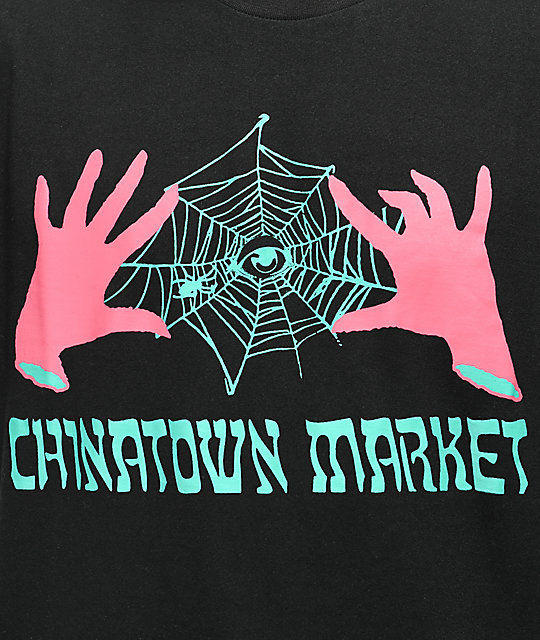 Chinatown Market x Never Made Spinning Webs Black T-Shirt