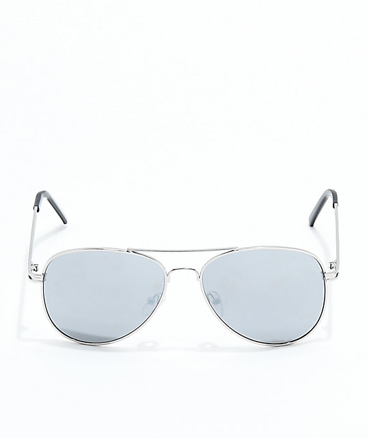 Chip Aviator Silver Sunglasses