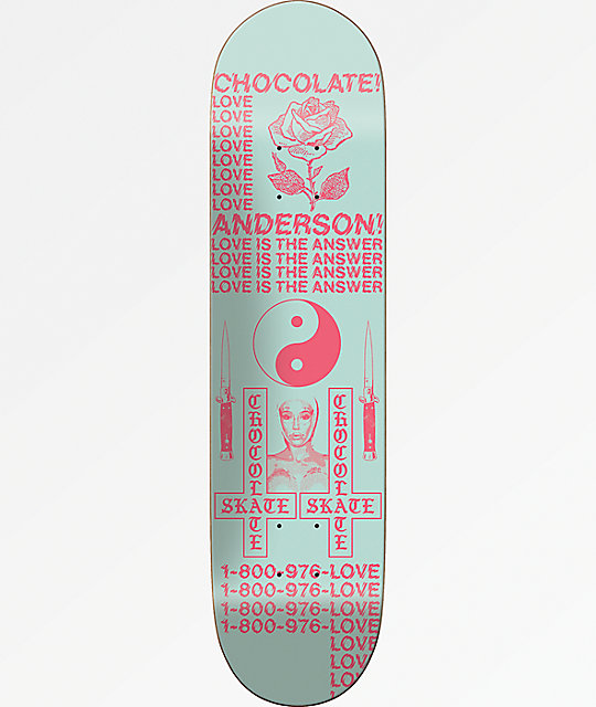 "Chocolate Anderson Darkslide Skidul 8.5"" Skateboard Deck"