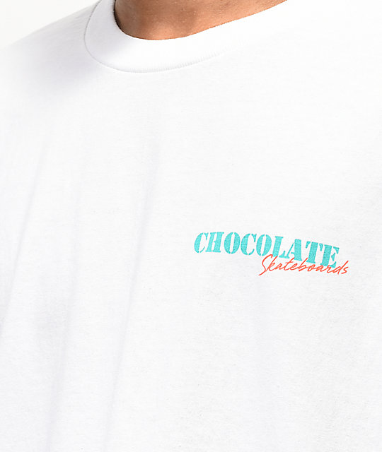 Chocolate Chico'B camiseta blanca