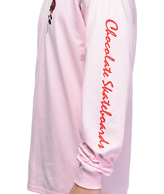 Chocolate Dreamers camiseta rosa de manga larga