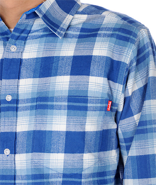 Chocolate Neiva Fourstar Blue Woven Shirt
