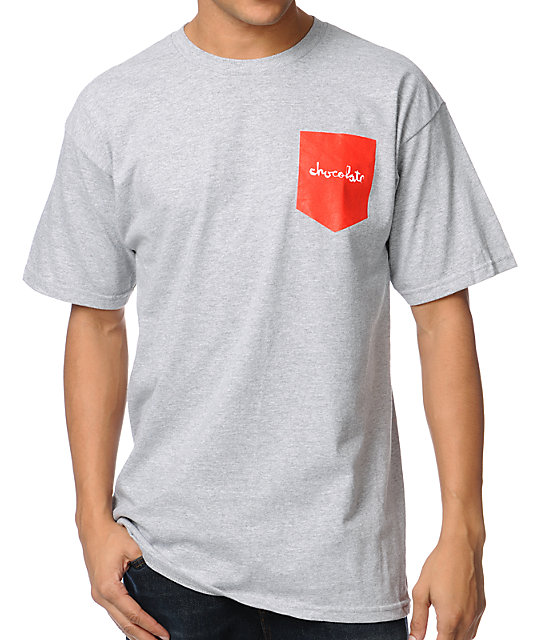 Chocolate Pocket Chunk Grey T-Shirt