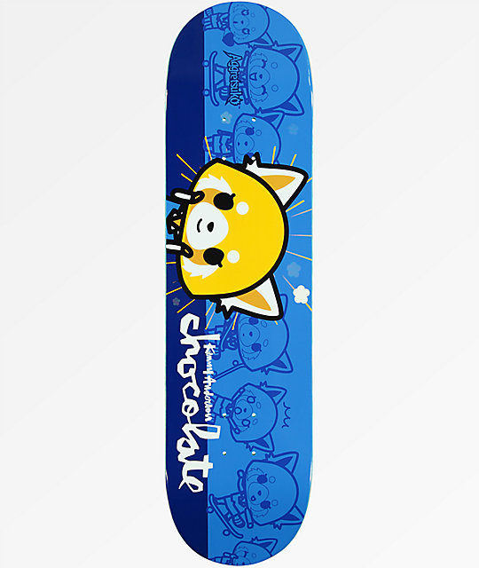 "Chocolate x Sanrio Kenny Aggretsuko 8.12"" tabla de skate"