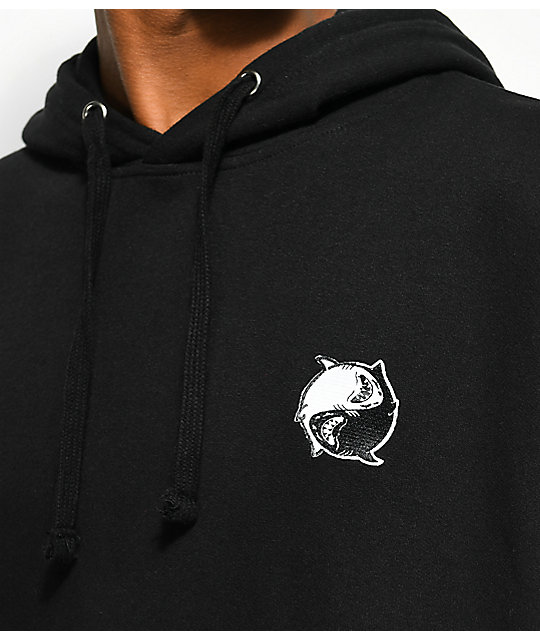 Chomp Get Sticky Black Fleece Hoodie