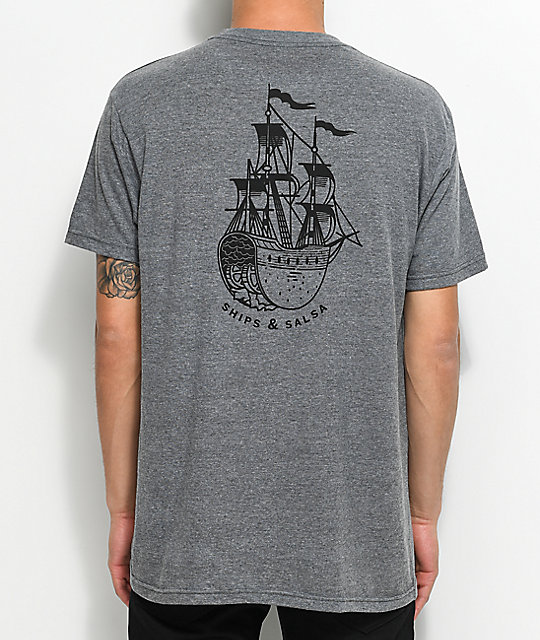 Chomp Ships And Salsa camiseta gris