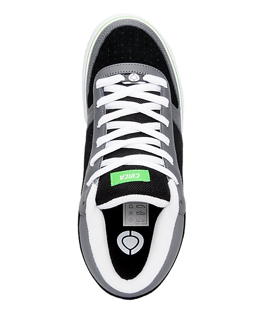 Circa 8 Track Black, White & Green Shoes