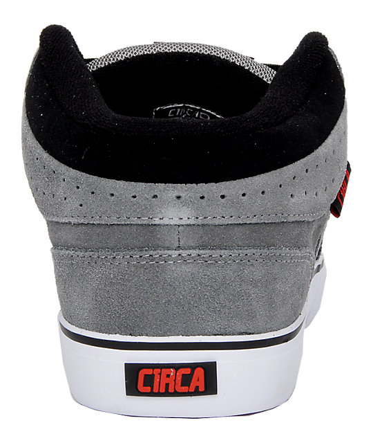 Circa 8 Track Grey, Black & Red Shoes