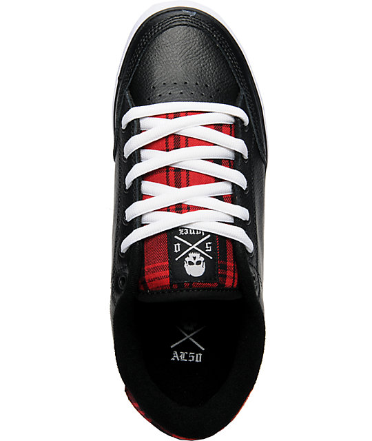 Circa AL 50 Black & Red Plaid Skate Shoes