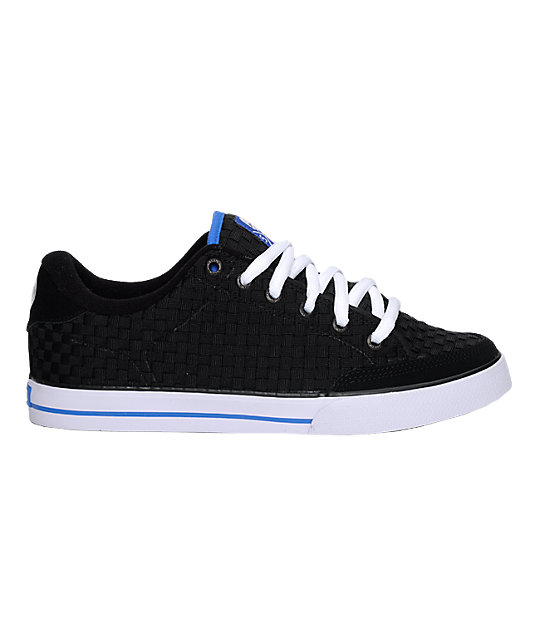 Circa AL 50 Weave Black, White & Royal Blue Shoes