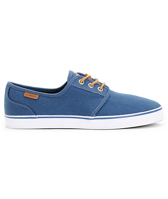 Circa Crip Navy Canvas, Brown, & White Skate Shoes