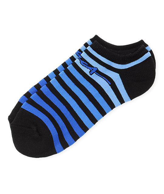 Circa Ghost Stripe Black Ankle Socks
