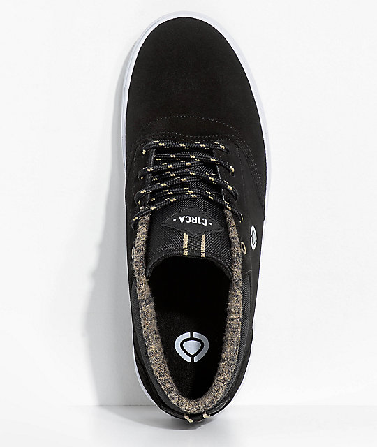 Circa Lakota SE Black & White Mid Skate Shoes