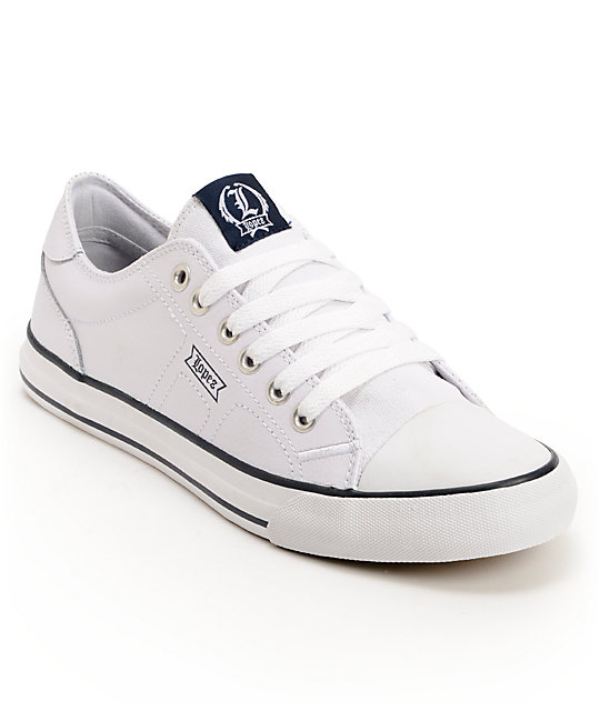 Circa Lopez 25 Navy & White Skate Shoes