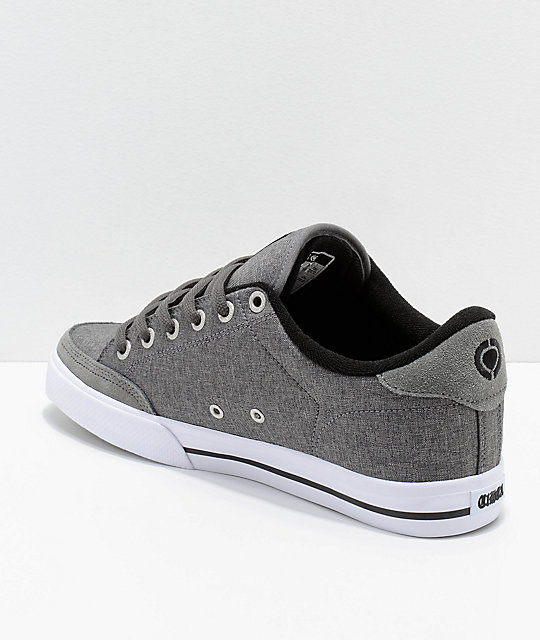 Circa Lopez 50 Charcoal & White Skate Shoes