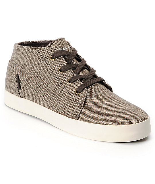 Circa Stroke Mid Brown Tweed Select Skate Shoes