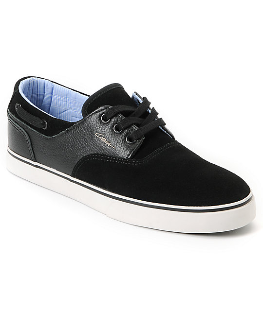 ddbcf1f015de Circa Valeo Black Leather   Suede Skate Shoes