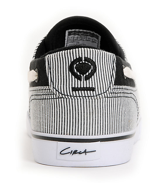 Circa Valeo Black Stripe Canvas Shoes