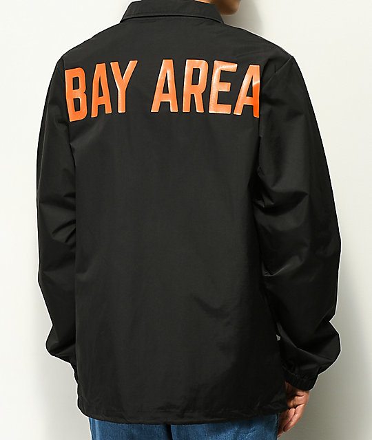 City Chapters Bay Area Black & Orange Coaches Jacket