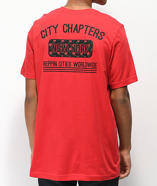 City Chapters New York Rose camiseta roja