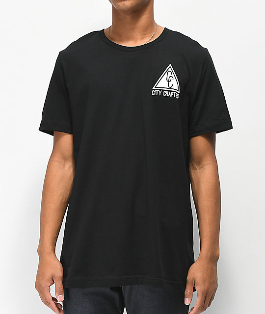 City Chapters New York Stack Black T-Shirt