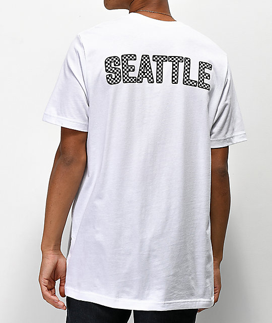 City Chapters Seattle Checkered camiseta blanca