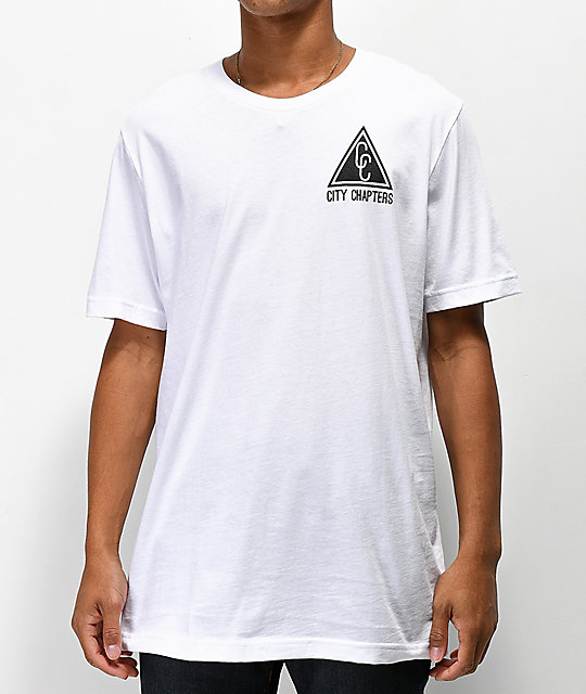City Chapters Spokane Checkered White T-Shirt