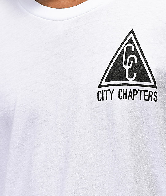 City Chapters Spokane Checkered camiseta blanca