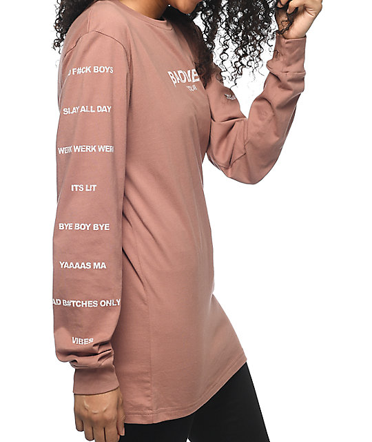 Civil Baddies Tour Mauve Long Sleeve T-Shirt