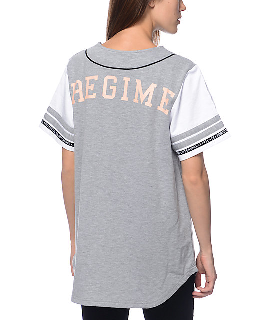 Civil Home Run Grey Baseball Jersey
