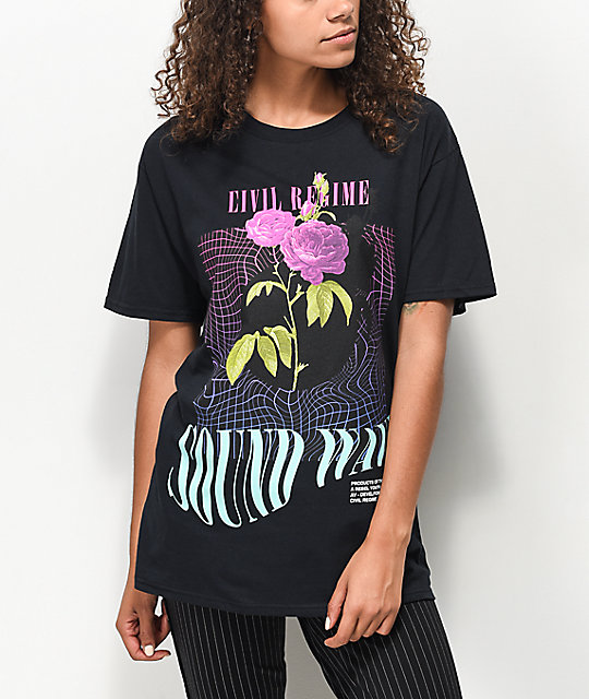 Civil Sound Wave Black T-Shirt