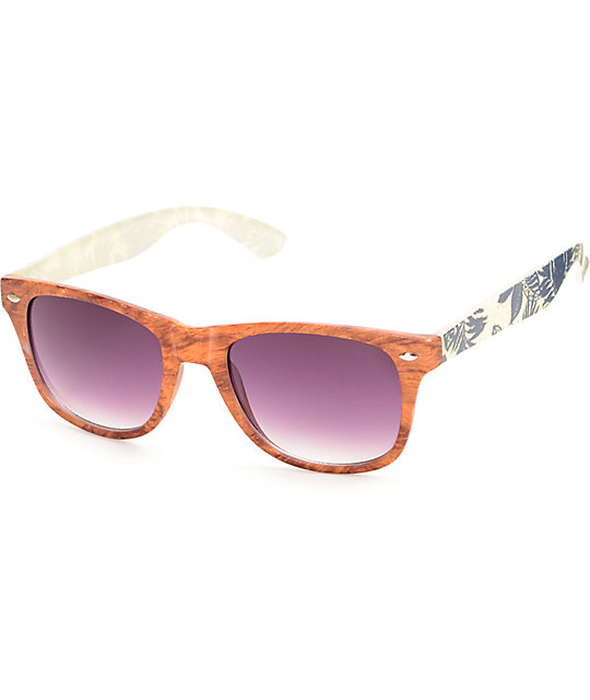 Classic South Pacific Wood & Palm Sunglasses