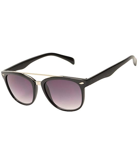 Classic T-Bar Black   Gold Sunglasses  bfa8fd24c8b4