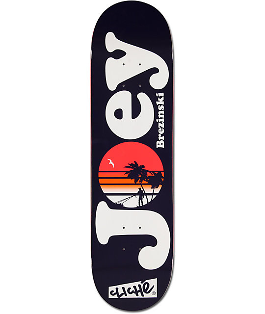 "Cliche Brezinski Sunset 8.0""  Skateboard Deck"