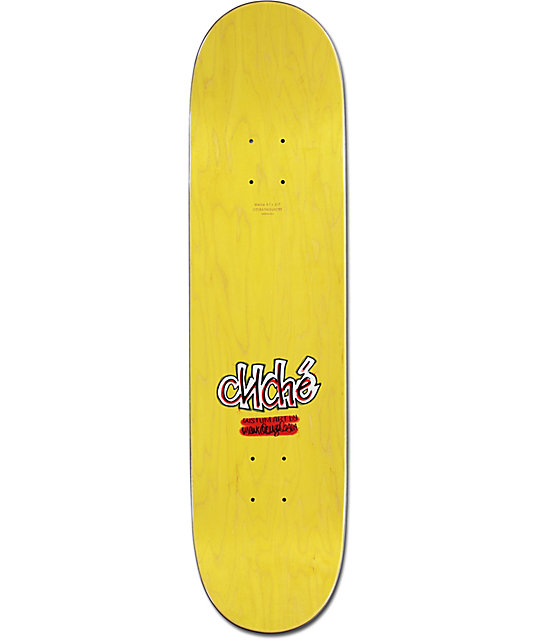 "Cliche Eldridge Glitter Ink 8.125""  Skateboard Deck"