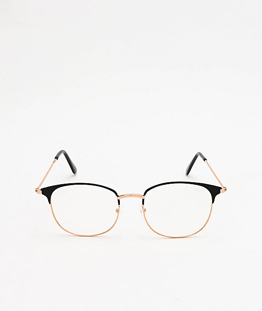 Club Round Clear Glasses