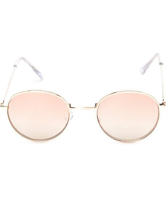 Clubmaster Rose Gold Fashion Sunglasses