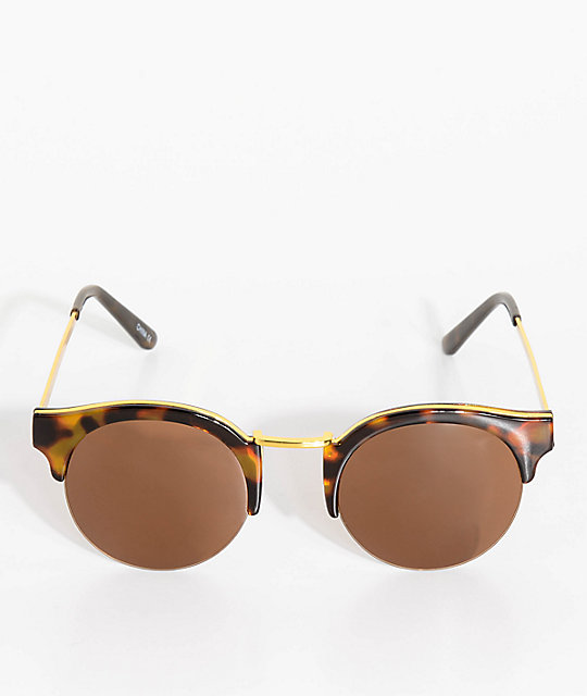 Clubmaster Tortoise & Brown Sunglasses