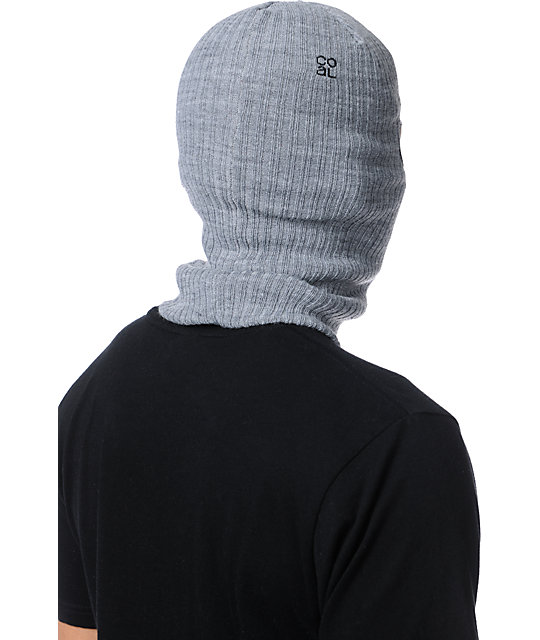 Coal Clava Heather Grey Knit Face Mask Beanie
