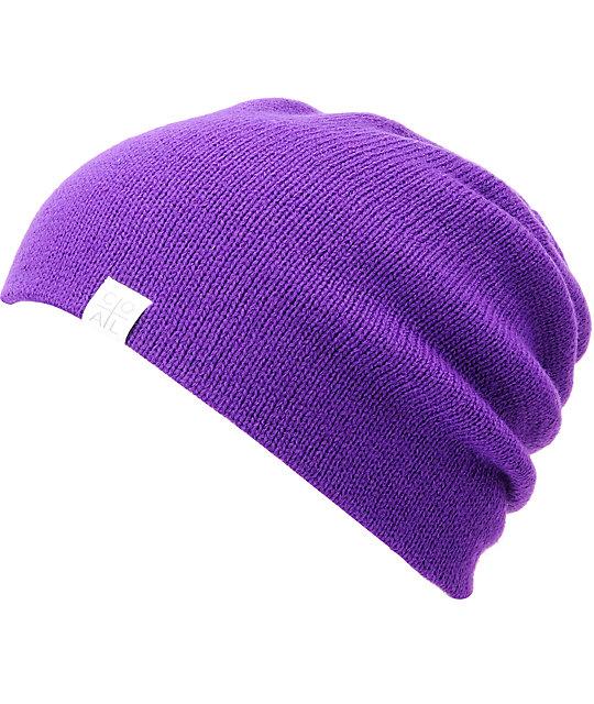 1ac1ab6f0f3b8 Coal FLT Purple Beanie